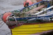 Fishing boat in Bridlington Harbour, UK