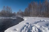 Winter Forest River Snow Water