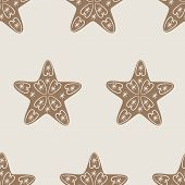Christmas Star Cookie Pattern