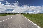 Scenic landscape in Bavaria, Germany, in spring