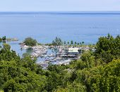 High View Of Port At Bluffers Park