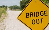 stock photo of driver  - Bridge out  - JPG