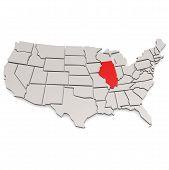 image of illinois  - Illinois map image with hi - JPG