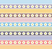 stock photo of pastel colors  - Floral pattern in pastel colors  - JPG