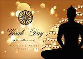 stock photo of wesak day  - Abstract of Vesak Day The Meditation Day of The World - JPG