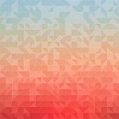stock photo of color geometric shape  - Mosaic colorful background of geometric shapes - JPG