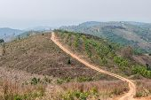 stock photo of land development  - Roads in rural areas of developing countries - JPG