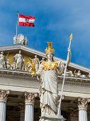 foto of goddess  - parliament in vienna - JPG