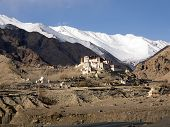 pic of jammu kashmir  - Temple on the hill in Ladakh Region Jammu and Kashmir State India - JPG