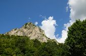 picture of italian alps  - a mountain peak on the italian alps close to turin - JPG