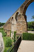 stock photo of aqueduct  - Arches of San Anton Aqueduct of Caceres Extremadura - JPG