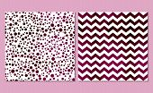 picture of chevron  - Set of 2 watercolor seamless patterns - JPG