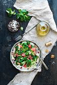 stock photo of spring lambs  - Spring salad with lamb - JPG