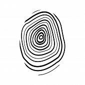 stock photo of fingerprint  - The fingerprint icon - JPG