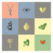 foto of broken heart flower  - Simple Flat Icons Collection for Valentines Day - JPG