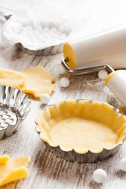 stock photo of shortbread  - Baking background - JPG