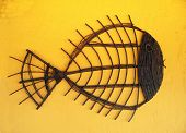 Wicker Stick Fish Craft poster