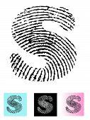 Fingerprint Alphabet Letter S