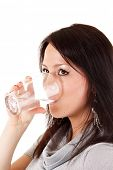 woman drink water