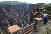 Olhando para o Canyon preto
