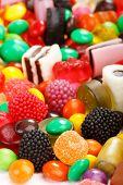 surtido de dulces colores