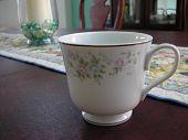 Teacup On Dining Room Table