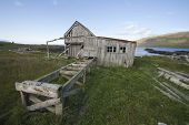 Abandon timber mill in west Iceland