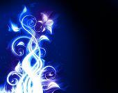 Flor de fuego azul