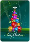 Christmas tree - Christmas and New Year's background