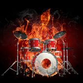 Drummer - Series of fiery illustrations
