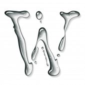 Vector water letter