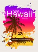 Tropical background. Aloha Hawaii.