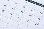 Calendar Page Background. Numbers On Calendar Page poster