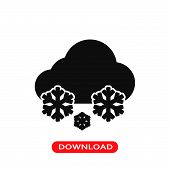 Snow Weather Icon Vector In Modern Flat Style For Web, Graphic And Mobile Design. Snow Weather Icon  poster