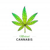 Illustration Of Medical Cannabis. Suitable For Use By Cannabis Producers In The Design Of Packaging, poster