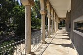 pic of beatitudes  - Marble Colonnade in Church of Beatitudes - JPG
