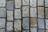 The Texture Of Paving Stone Masonry, Close Up poster