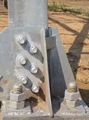 Steel  Construction With Bolts And Nuts