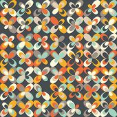 Midcentury Geometric Retro Pattern, Vintage Colors poster