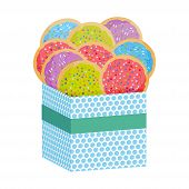 Frosted Sugar Cookies, Set Italian Freshly Baked Sugar Cookies With Pink Green Violet Blue Frosting  poster