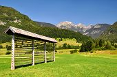 haylofts in Triglav National Park - Julian Alps, Slovenia