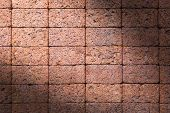 Brick Wall Texture Or Brick Wall Background. Brick Wall For Interior Exterior Decoration And Industr poster