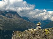 Inukshuk Sitting At The Mont-blanc