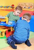 Playing in the kindergarten