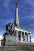 memorial landmark for fallen soldiers of world war 2 poster