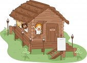 Illustration of Kids in a Camp House