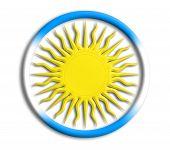Argentina button shield on white background