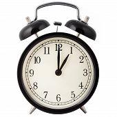 Alarm clock set for 1 o'clock.