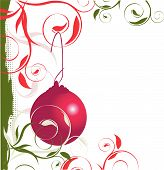 Christmas ornament left border.Eps