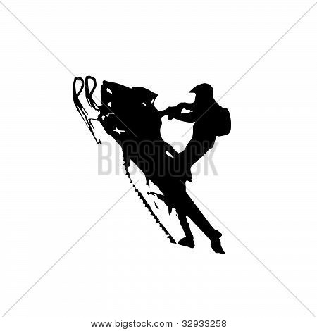 or Photo of Winter clip art of snowmobiling in a snowy Wyoming Winter ...